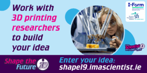 Social media graphic to share: Shape the Future - 3D researchers